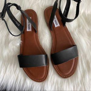 Steve Madden Black Ankle Strap Sandals Size 8.5